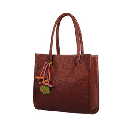 Fashion Elegant girls handbags leather shoulder bag candy color flowers Women tote](Candy Bags Purses)