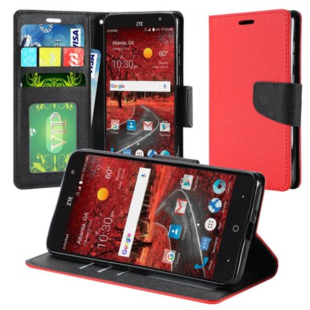 ZTE Grand X 4 Case, by HR Wireless Stand Book-Style Leather [Card Holder Slot] Wallet Pouch Case Cover For ZTE Blade Spark/Grand X 4 Z956,