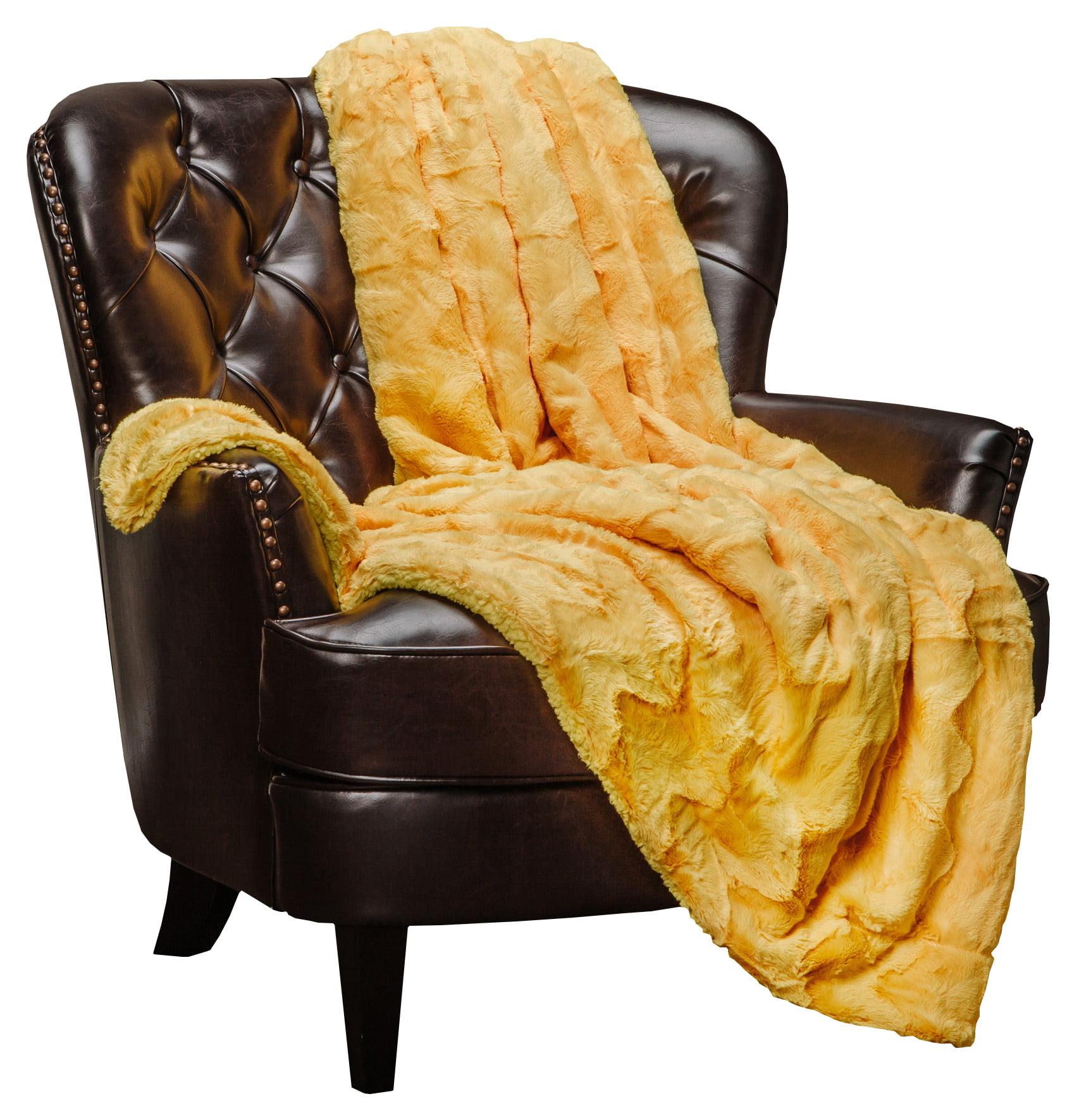 Chanasya Super Soft Warm Elegent Waivey Pattern Cozy Sherpa Throw Blanket