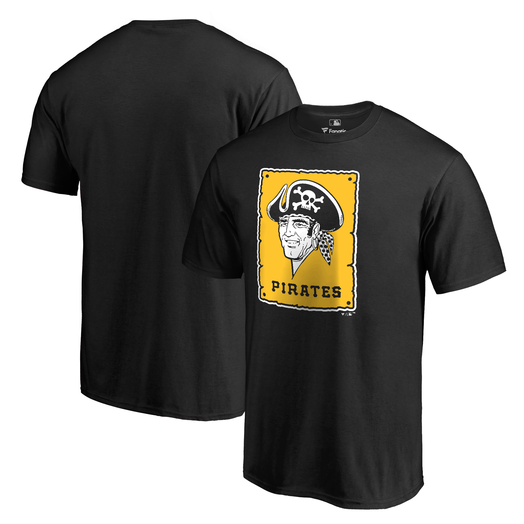 Pittsburgh Pirates Fanatics Branded Big & Tall Cooperstown Collection Forbes T-Shirt - Black