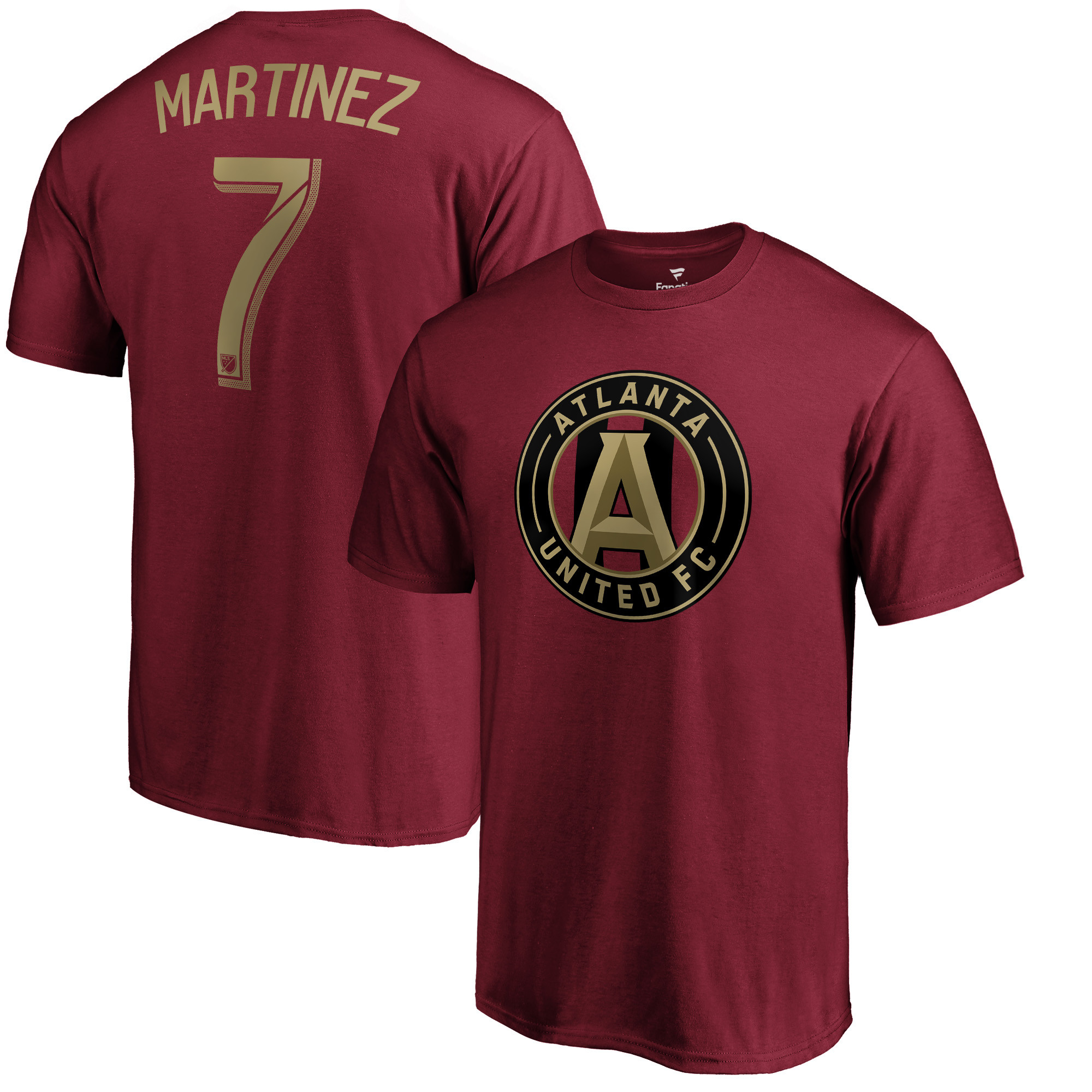 Josef Martinez Atlanta United FC Fanatics Branded Name & Number T-Shirt - Red - 2XL