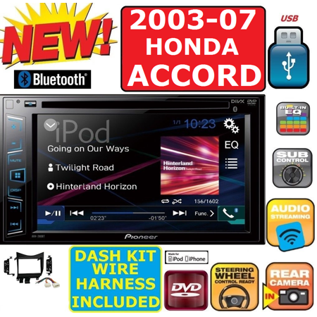 03-07 HONDA ACCORD PIONEER TOUCHSCREEN AM FM CD DVD BT USB CAR RADIO STEREO PKG (Honda Pioneer 700 Stereo Systems)
