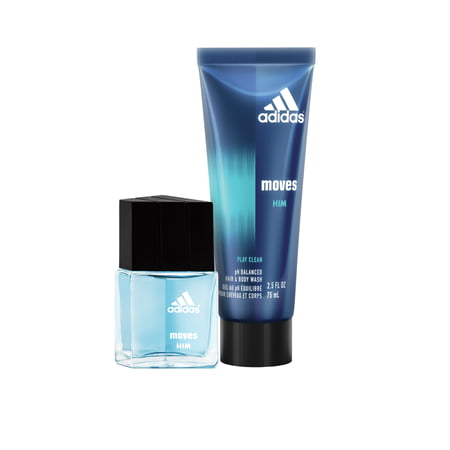 outlet store 0884c 0929b Adidas Moves for Him Hair Body Wash   Eau de Toilette Spray, Holiday  Fragrance Gift Set for Men, 2 pc - Walmart.com