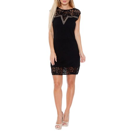 Women's Women's Lace Trim Mini Dress