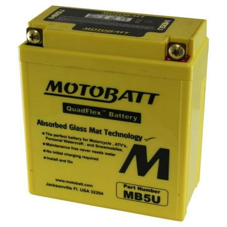 DB Electrical MB5U Battery for Motobatt Battery 7Ah,Honda, Sizuki,Yamahe, Royal