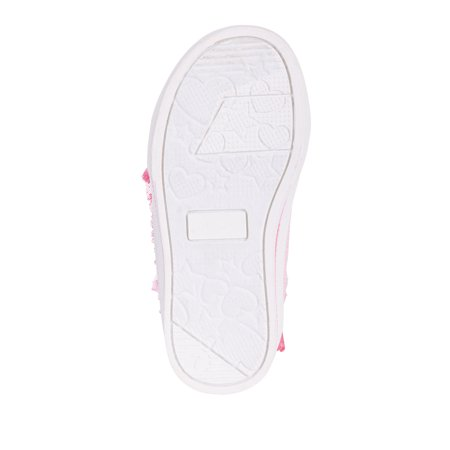 Peppa Pig Toddler Girls' Lighted High Top Ruffle Sneaker