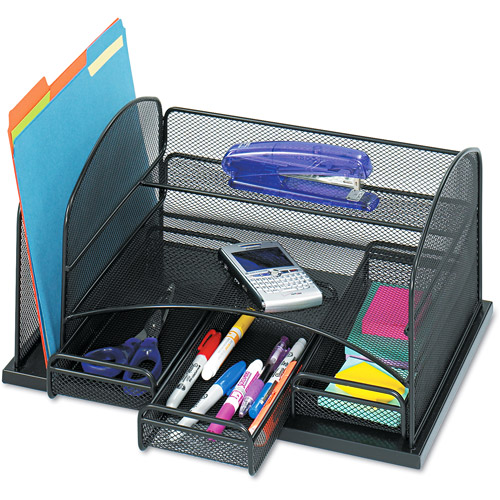 Safco 3 Drawer Desk Organizer, Steel, 12 1/2 x 5 1/4 x 5 1/4