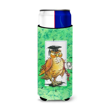 Graduation The Wise Owl Ultra Beverage Insulators for slim cans - Graduation Koozies