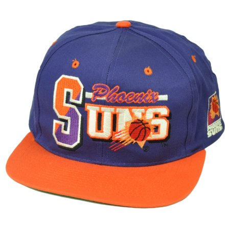 Phoenix Suns Dead Stock Vintage Old Snapback Hat Cap Purple Orange Basketball