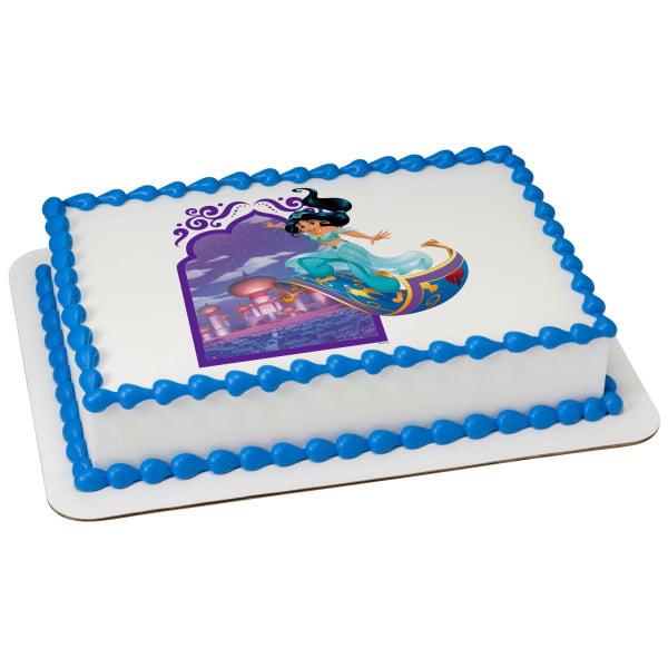 "Disney Princess Escape To Agrabah 7.5"" Round Sheet Image Cake Topper Edible Birthday Party"