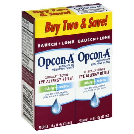 Bausch & Lomb Bausch & Lomb Opcon-A Eye Drops, 2 ea