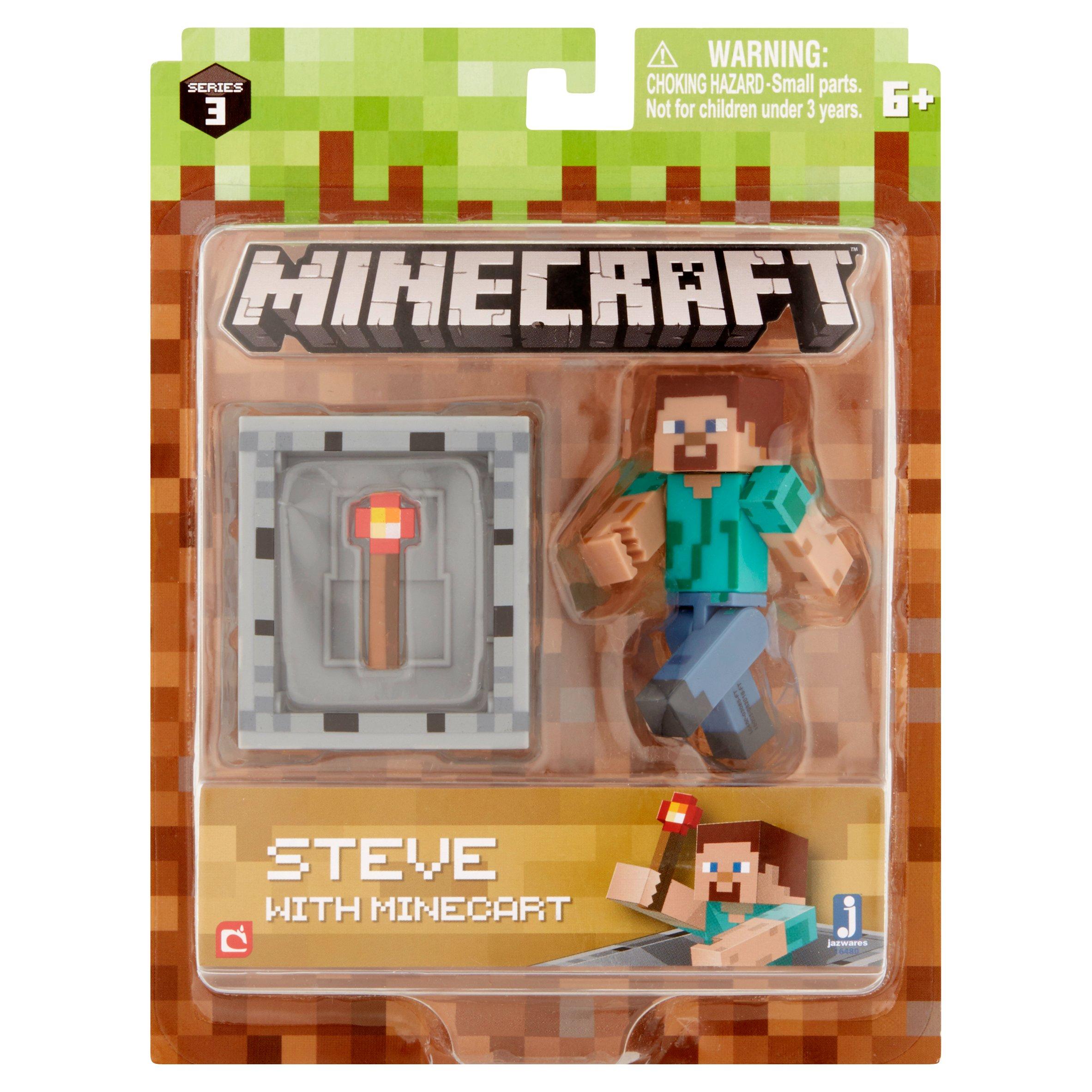 Jazwares Mojang Minecraft Steve with Minecart 6+ by Jazwares, LLC.
