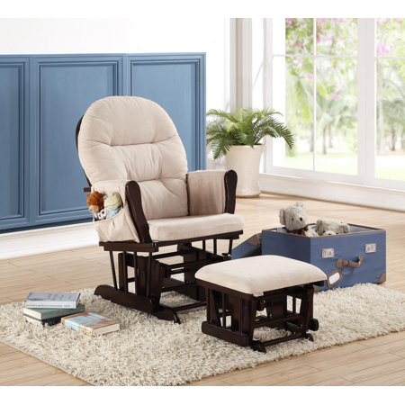 Naomi Home Brisbane Glider & Ottoman Set-Cushion