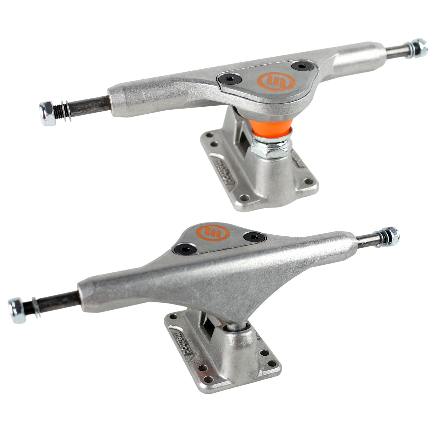 METHOD Longboard Trucks ZERO CAMBER RAW 170MM Skateboard Cruiser PAIR