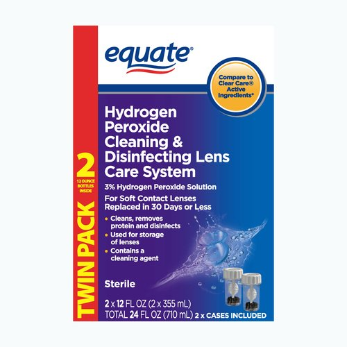 Equate Cleaning & Disinfecting Lens Care System, 2ct