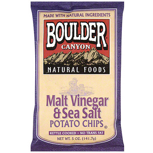 Boulder Canyon Natural Foods Kettle Cooked Malt Vinegar & Sea Salt Potato Chips, 5 oz... by Generic