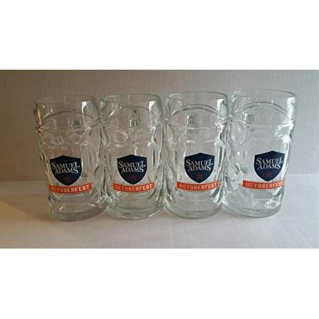 Samuel (Sam) Adams Octoberfest Beer Mug, Set of Four