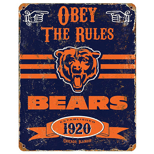 Party Animal NFL Chicago Bears Vintage Sign
