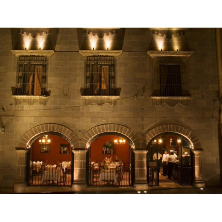 Restaurant near Main Square, San Miguel, Guanajuato State, Mexico Print Wall Art By Julie