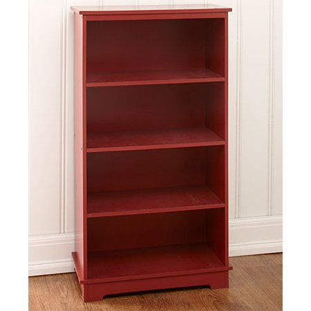 Storage Shelving or Lined Metal Basket Set-Barn Red Shelving Unit (Red Metal Shell)