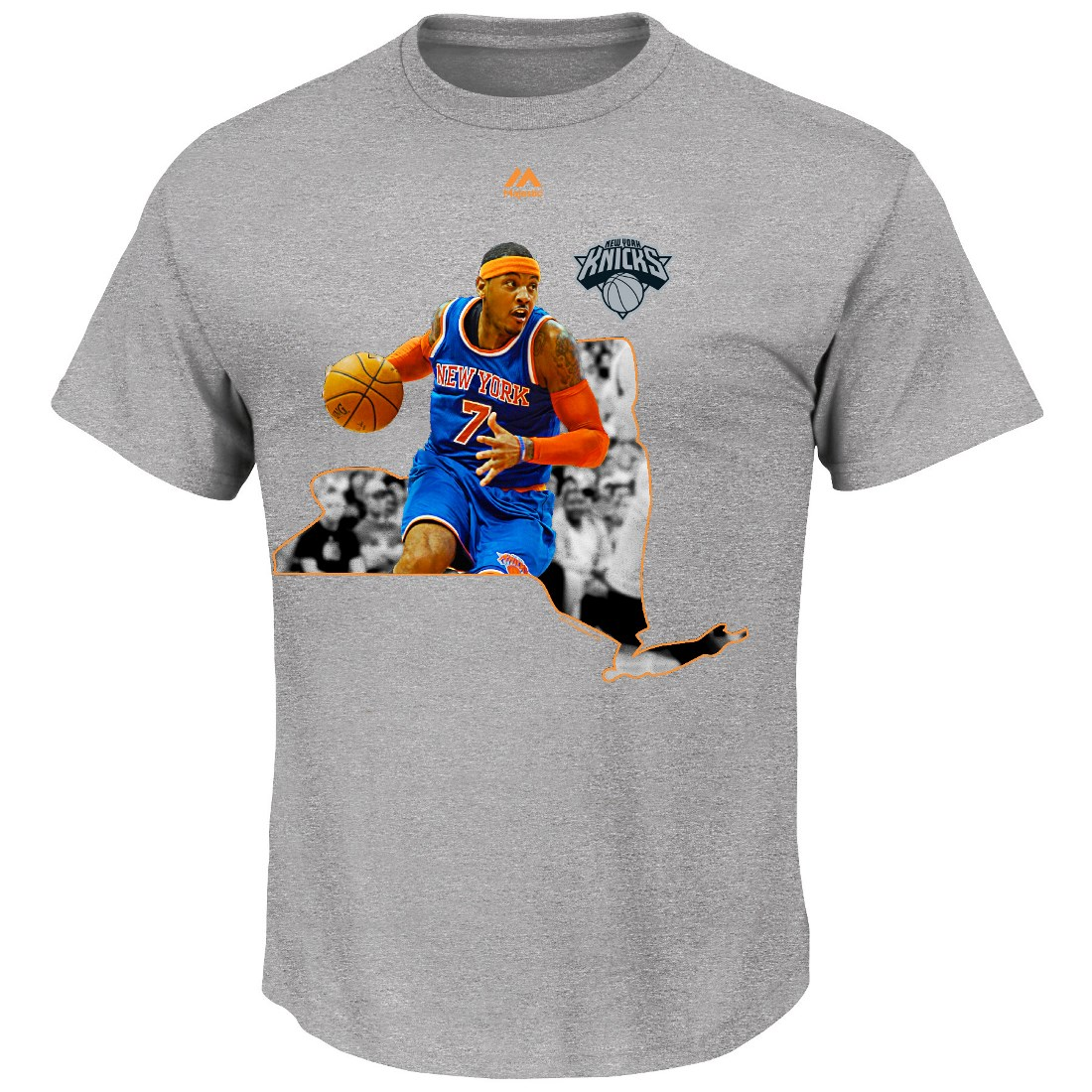 "Carmelo Anthony New York Knicks Majestic NBA ""Bigger Prize"" Player T-Shirt"