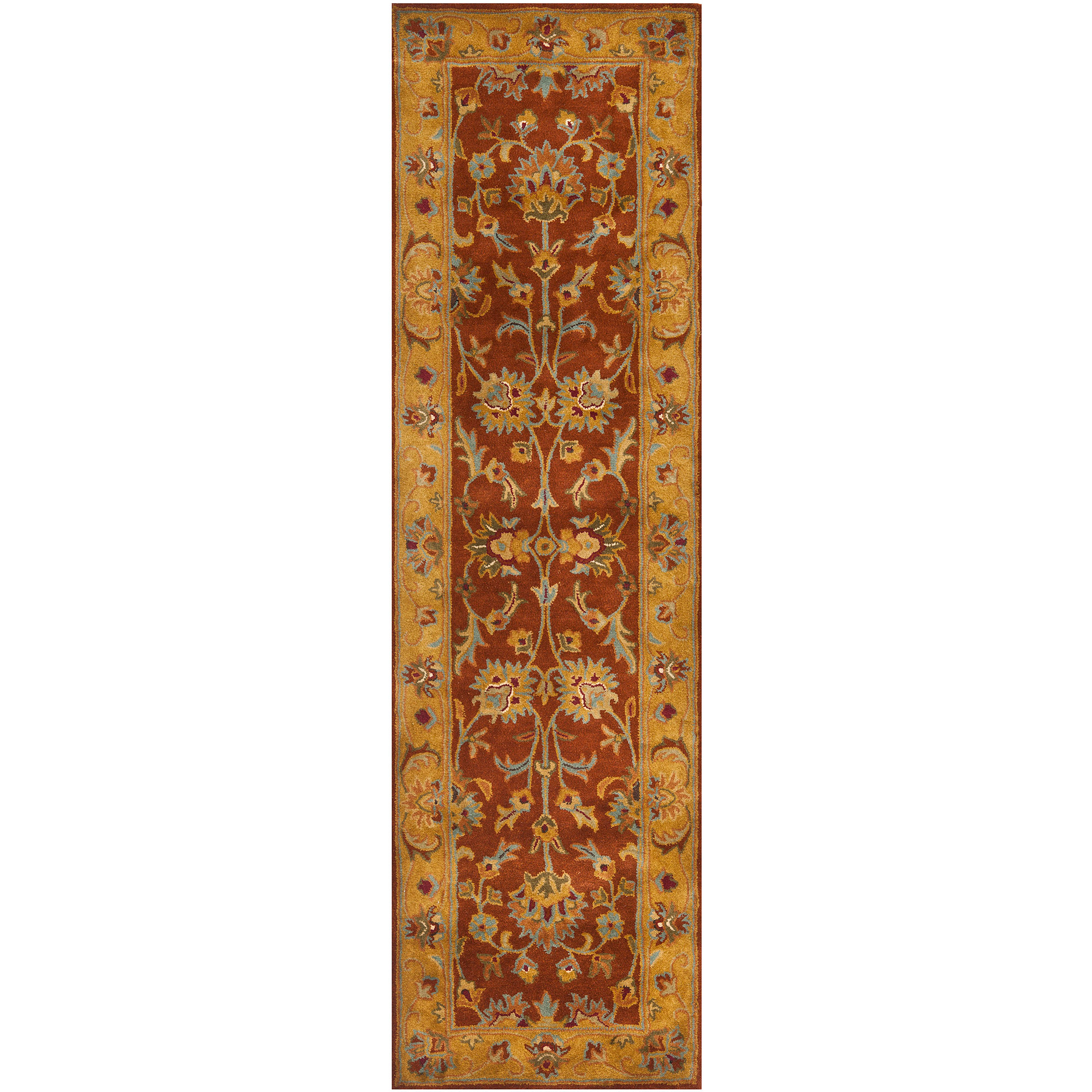 Safavieh Heritage Seymour Hand-Tufted Wool Runner Rug, Red/Natural