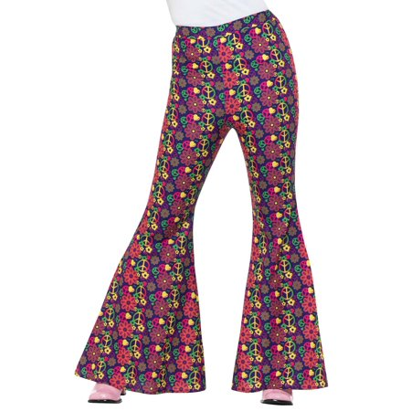 60s Psychedelic CND Flared Trousers Adult Costume