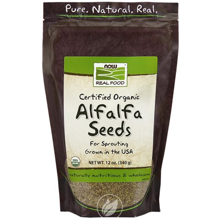 Now Foods - Certified Organic Alfalfa Seeds for Sprouting, 12 oz (340 g), Pack of 2