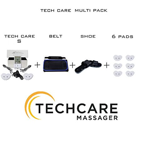 TechCare S Tens Massager FDA Cleared 510K Unit Electric Massager Set With Shoes + Massager Belt for Pain Relief Therapy for Neck Pain, Arthritis, Bursitis, Tendonitis, Sciatica, Back Pain