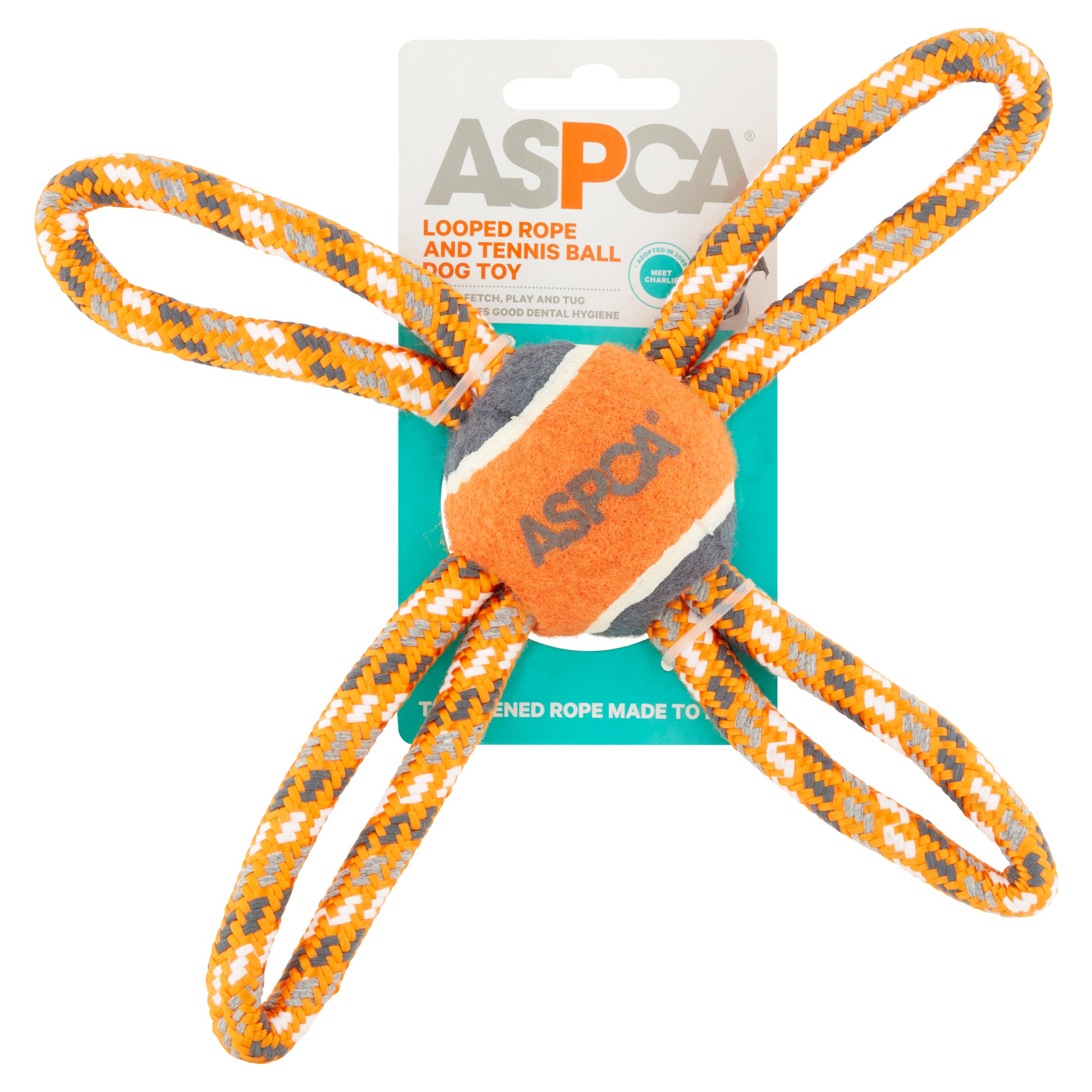Aspca Looped Rope And Tennis Ball Dog Toy Walmart Com