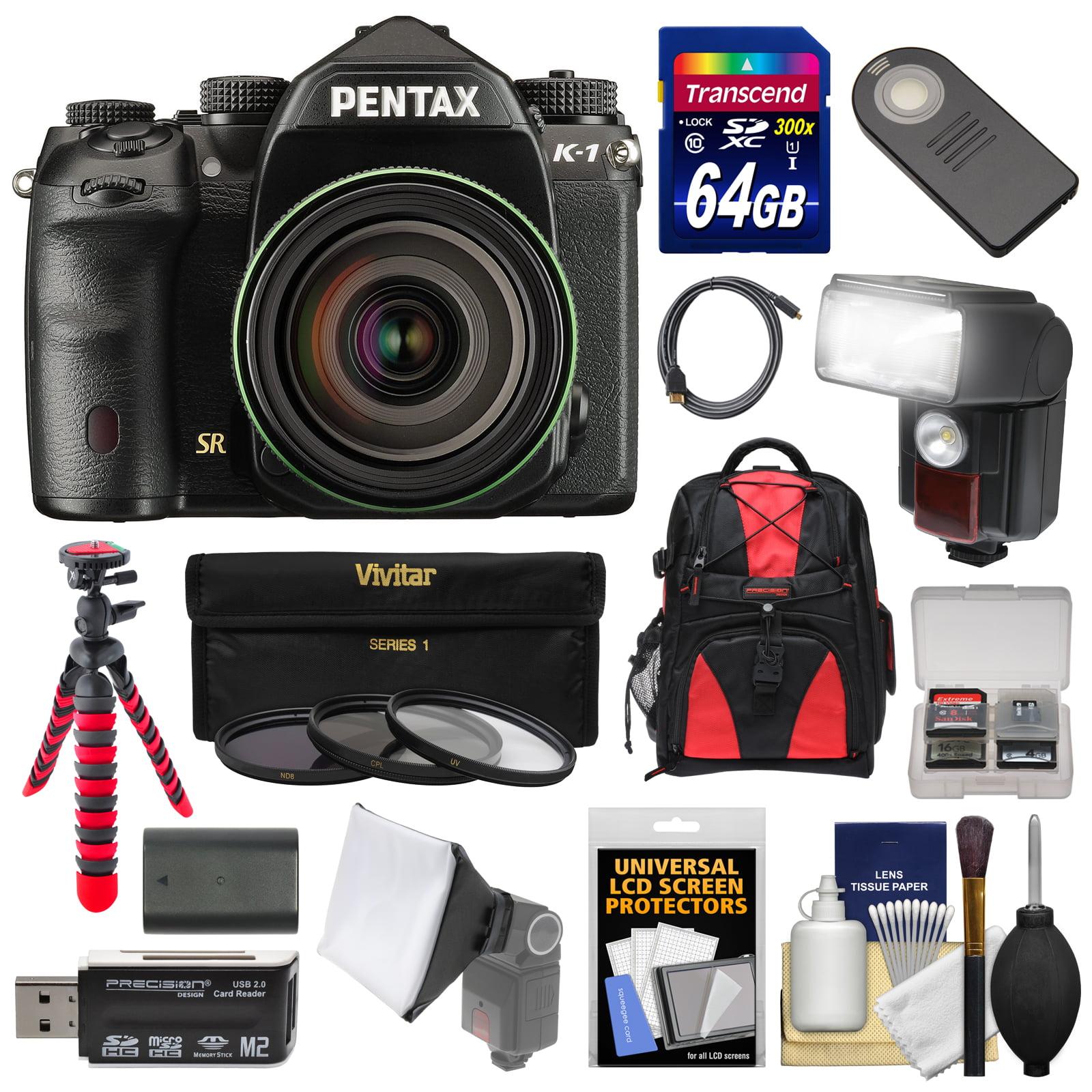 Pentax K-1 Mark II Full Frame Wi-Fi Digital SLR Camera & FA 28-105mm Lens with 64GB Card + Battery + Flash +... by Pentax
