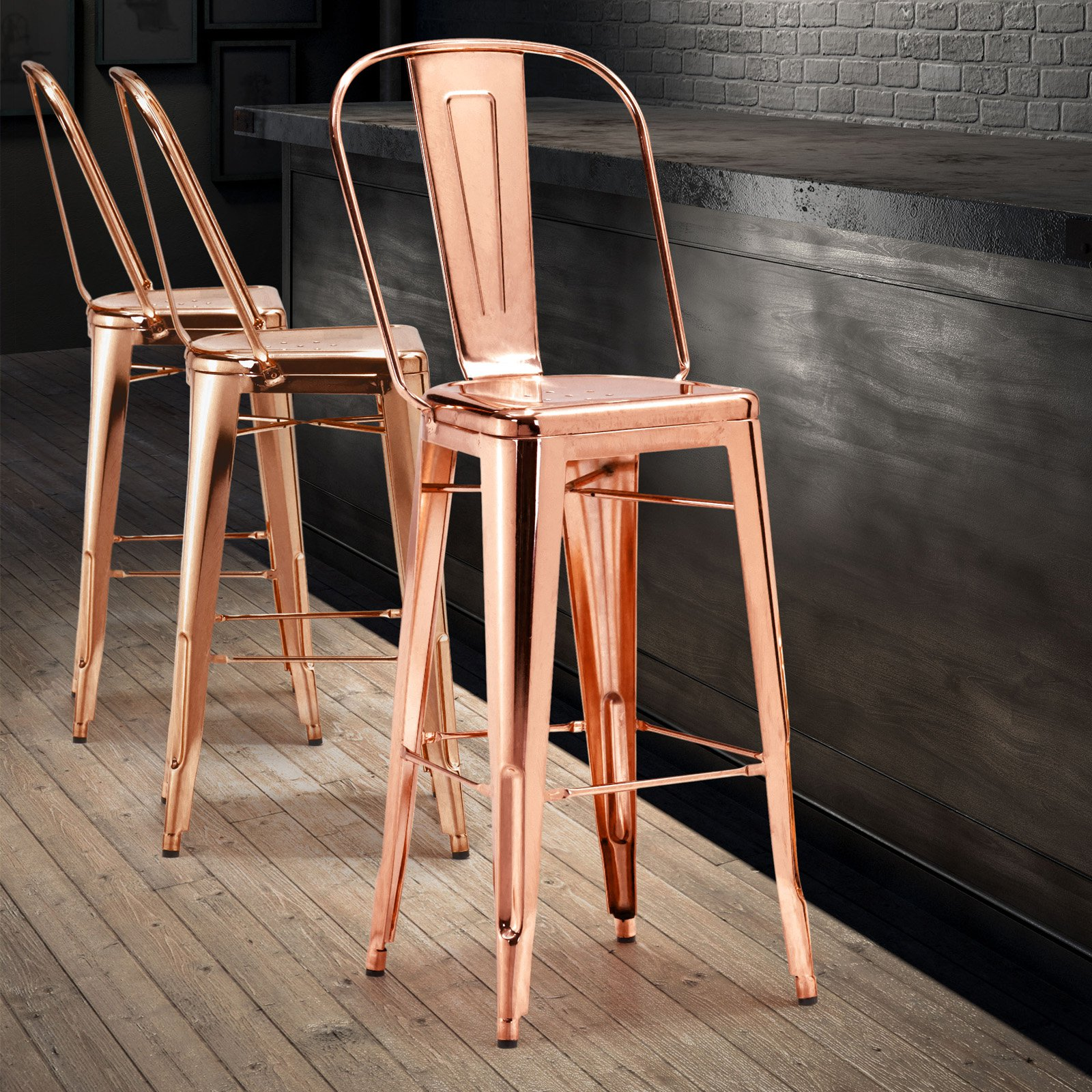 Elio Bar Chair Multiple Colors (Set of 2)