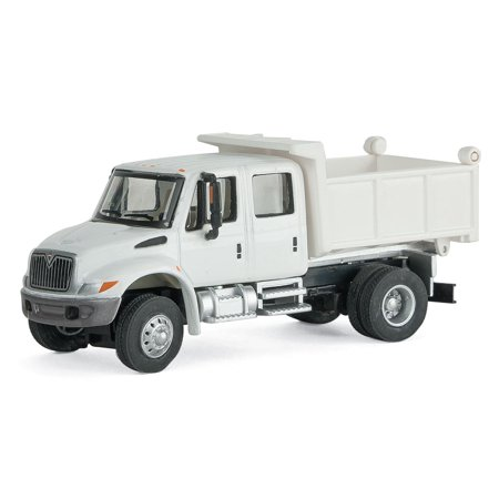 Walthers HO Scale International 4300 Crew Cab Dump Truck White Railroad MOW Best Crew Cab Truck