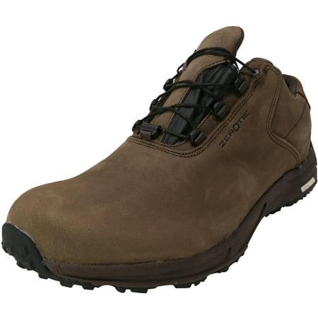 Zero Tie Men's Rocky Talkey Brown Low Top Leather Hiking Shoe - 10.5M Brown Shoe Leather Tie