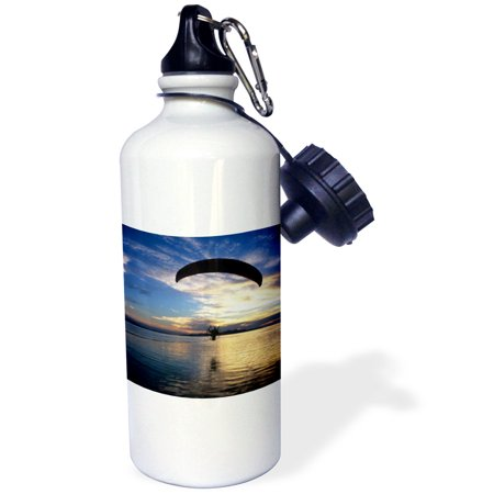 3dRose Paraglider over Great Salt Lake. Utah - US45 HGA0059 - Howie Garber, Sports Water Bottle, 21oz