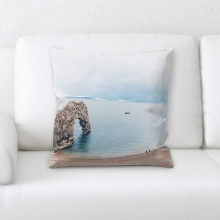 (Latitude Run Florentine Mountain and Cliffs (46) Throw Pillow)