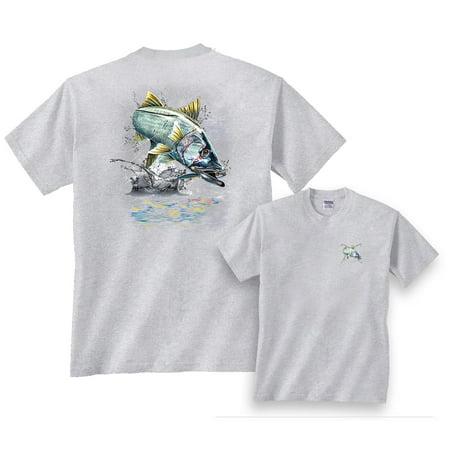 Snook Screen Tee (Jumping Snook Fishing T-Shirt )
