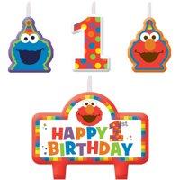 Elmo 1st Birthday Candles 4 count Supplies Elmo Sesame Street Fun to be One!