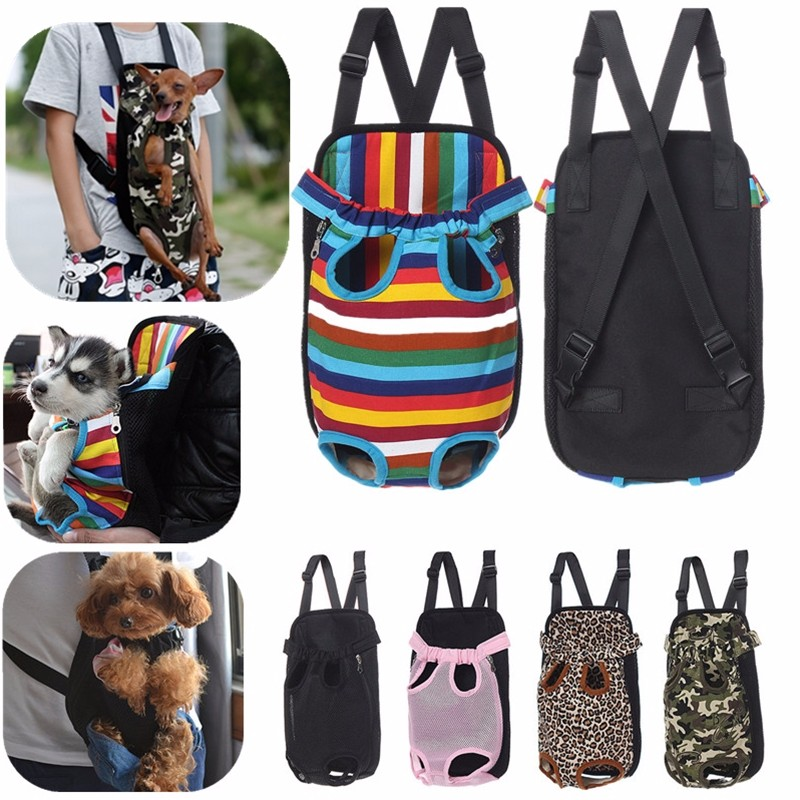 S-XL Hands Free Breathable Pet Puppy Carrier Backpack Travel Canvas Bag Dog Cat Pet Outdoor Pouch Carry Bag