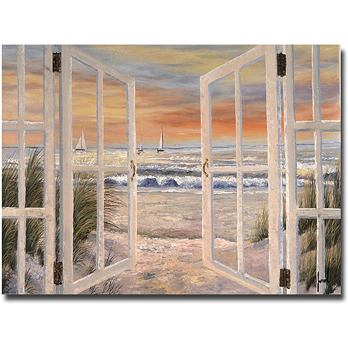 "Trademark Fine Art ""Elongated Window"" Canvas Wall Art by Joval"