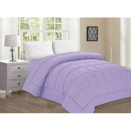 Elegant Comfort Ultra Plush Down Alternative Double-Filled Comforter %100 HypoAllergenic, King/Cal King , Lilac