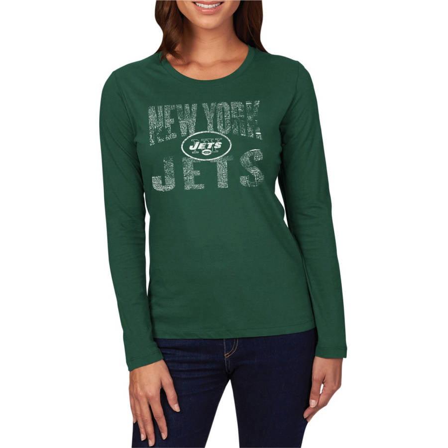 NFL New York Jets Women's Long Sleeve Crew Neck Tee