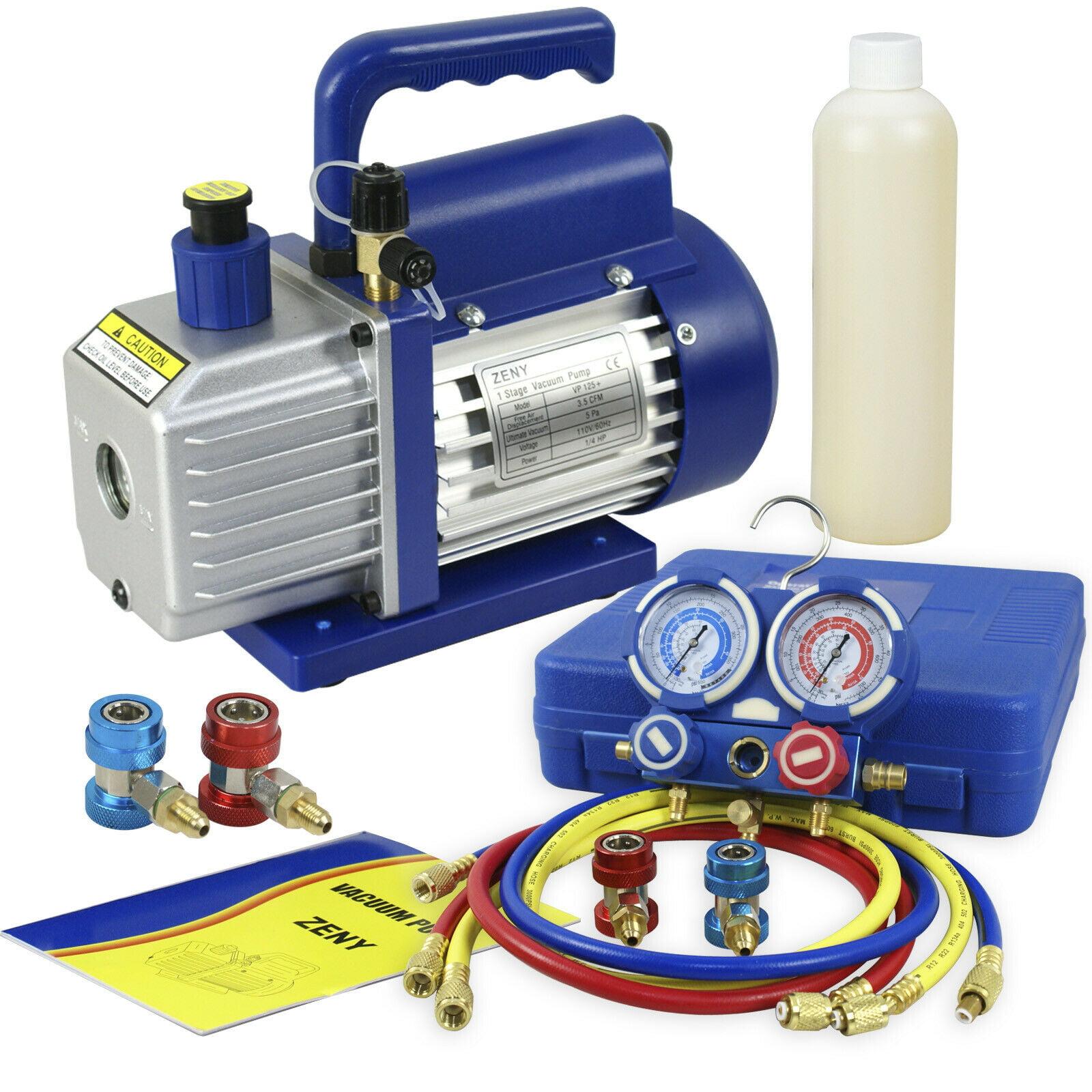Zeny 3 5cfm Single Stage Rotary Vane Vacuum Pump For Hvac