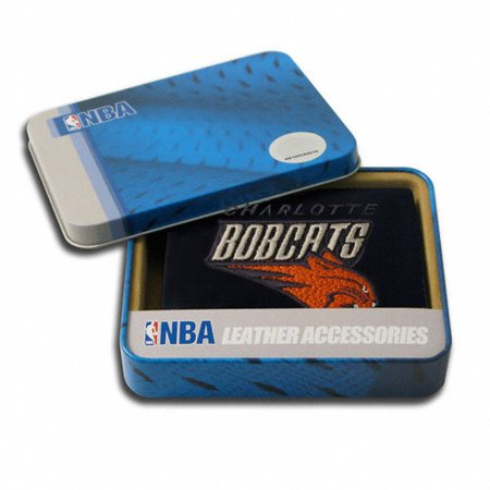 Charlotte Bobcats Official NBA Embroidered Leather Trifold Wallet by Rico Industries by