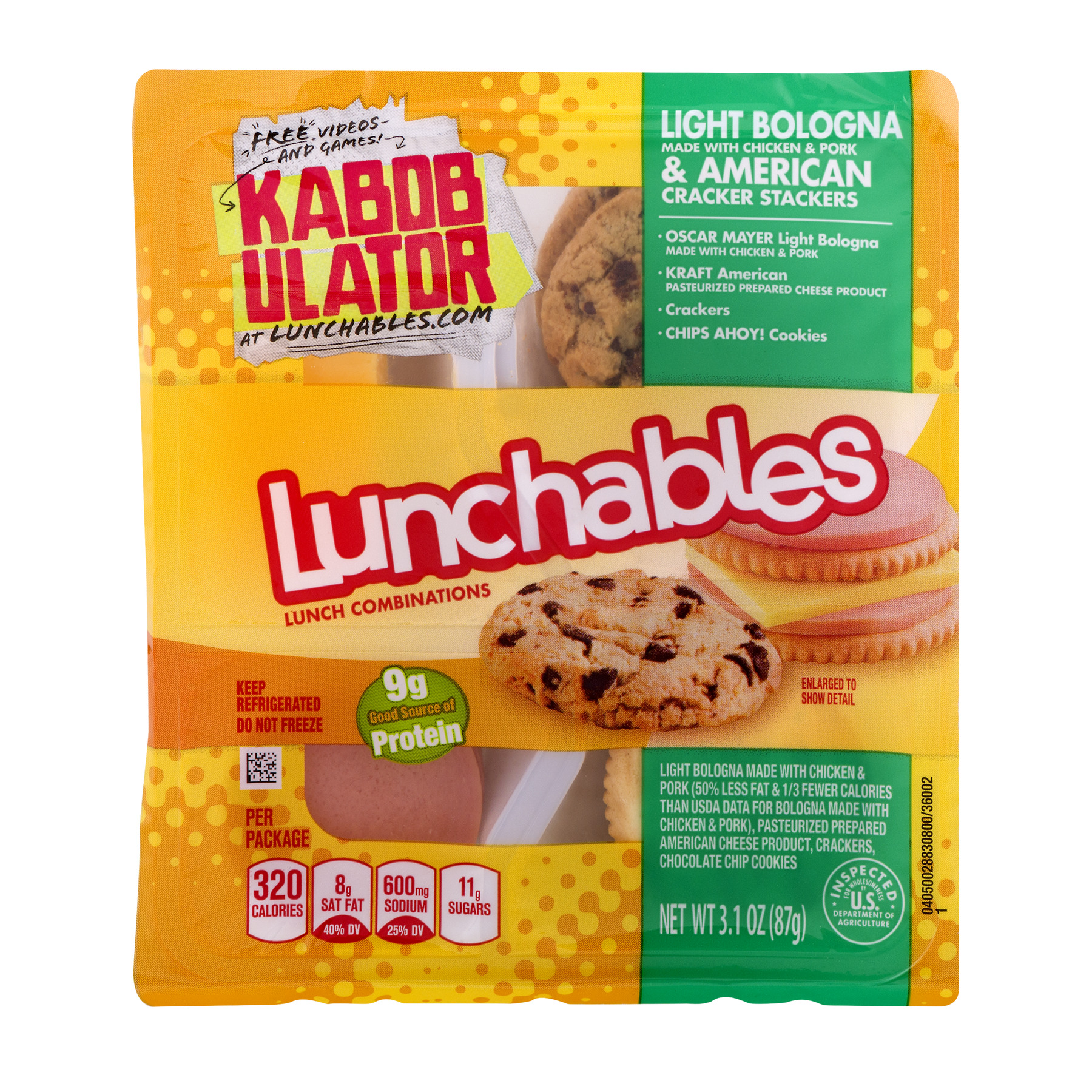Lunchables Light Bologna & American, 3.1 OZ