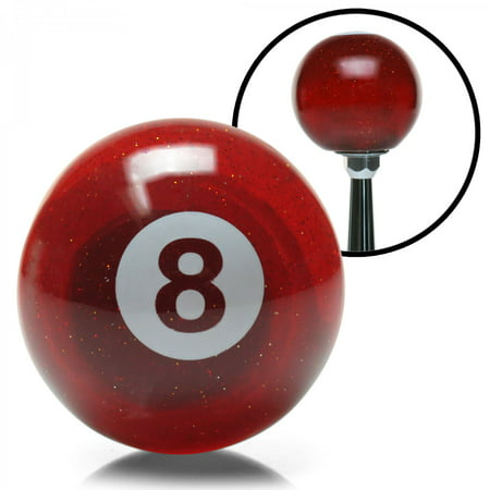 Red 8 Ball Custom Shift Knob Translucent with Metal Flake early scta racing
