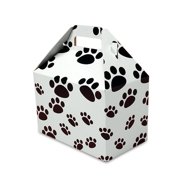 Paw Print Gable Boxes 8 X 4-7/8 X 5-1/4 | Quantity: 10 Width 4 7/8 by Paper Mart