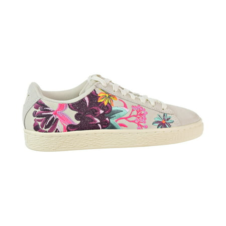 Puma Suede Hyper Emb Women's Shoes Whisper White/Orchid 368137-01 ()