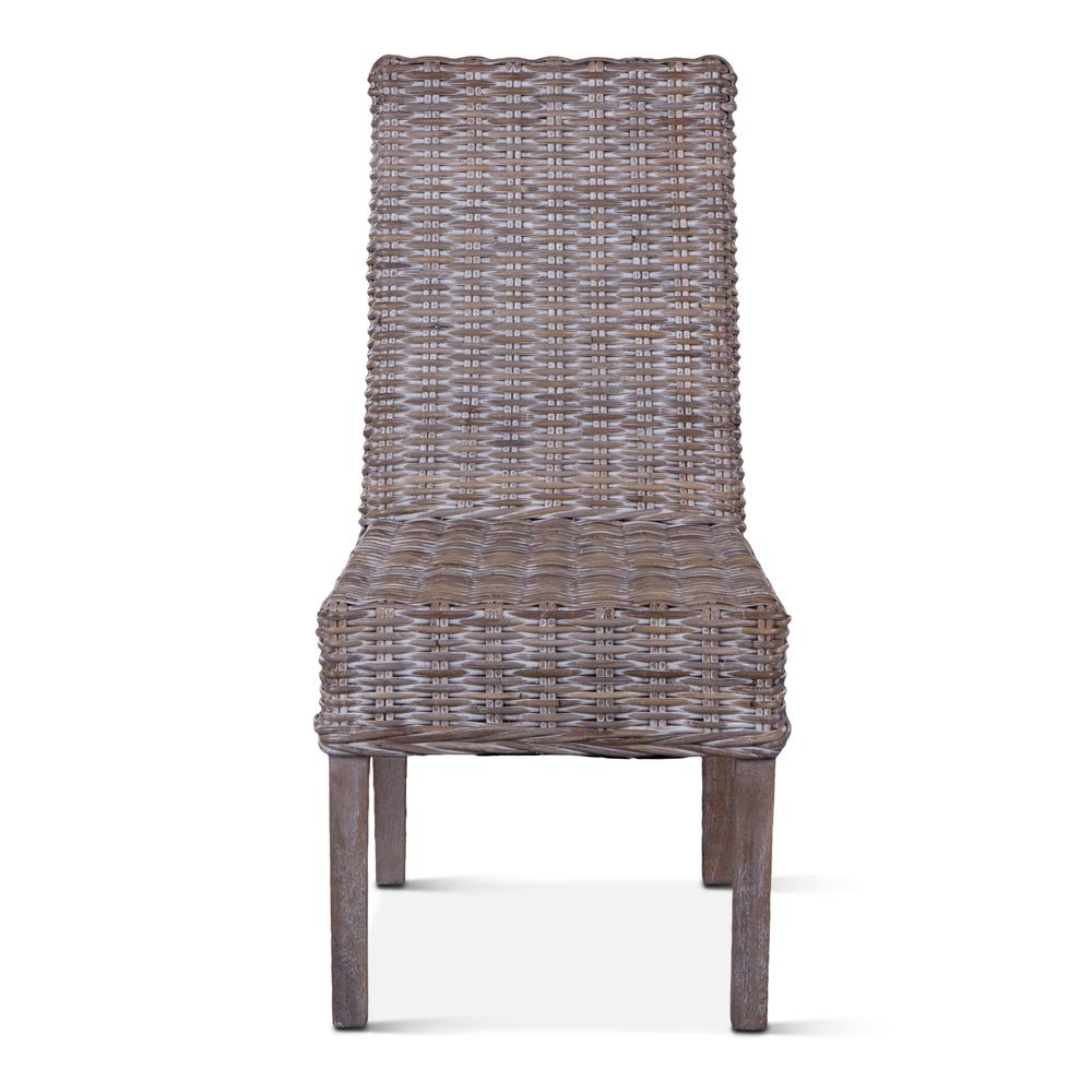 Bali Whitewash Wicker Dining Chair Walmart Com Walmart Com