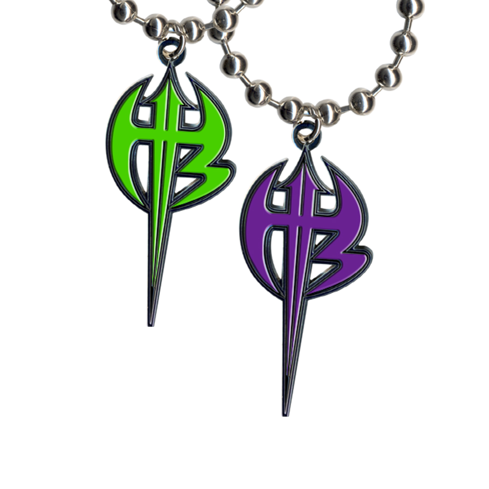 WWE Jeff Hardy Deal Set of 2 Different Logo Pendants